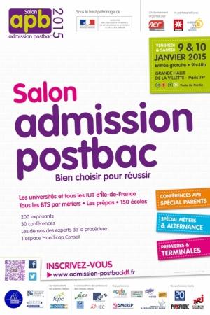 Salon apb admission postbac idf 2015 grande halle et for Salon apb