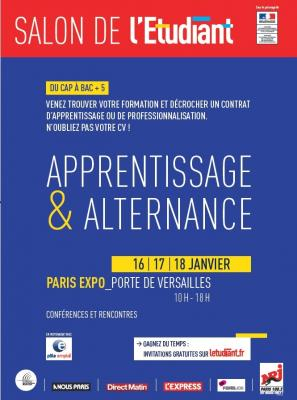 Salon l 39 etudiant de l 39 apprentissage et de l 39 alternance for Porte de champerret salon de l etudiant
