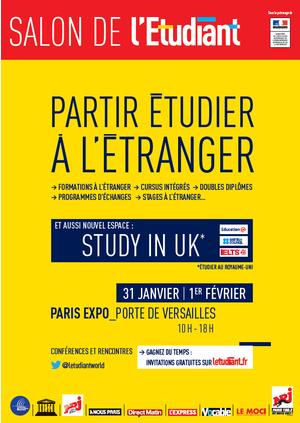 Salon partir tudier l 39 tranger parc des expositions for L etudiant salon porte de versailles