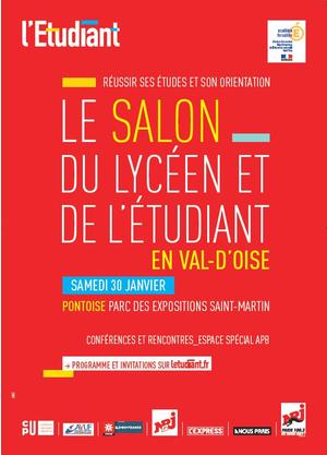 Salon du lyc en et de l 39 etudiant en val d 39 oise parc des for Salon de l alternance paris