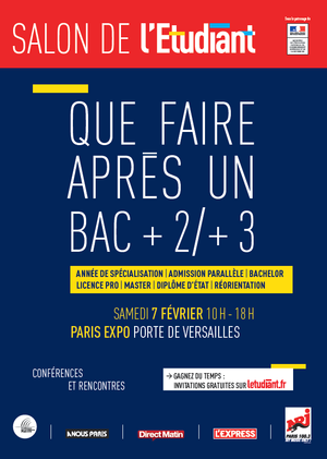 Salon de l 39 etudiant que faire apr s un bac 2 3 paris for Porte ouverte salon de l etudiant