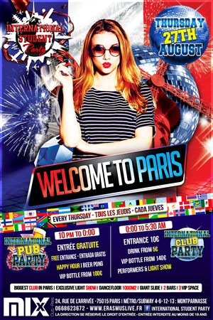 International Student Party : Welcome to Paris