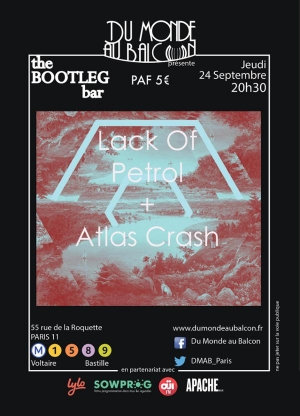 Lack Of Petrol + Atlas Crash au BOOTLEG BAR