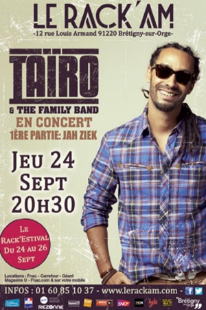 Rack'Estival avec Taïro le 24/09 au Rack'am !