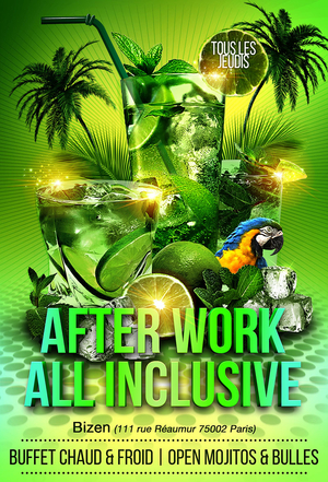 AFTERWORK MOJITOS ALL INCLUSIVE (meilleur buffet de Paris)