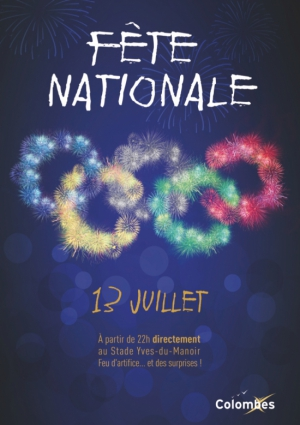 Fête Nationale à Colombes : feu d'artifice