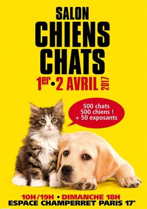 Salon chiens chats les 1er et 02 avril 2017 espace for Salon apb paris