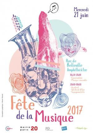 La mairie du 20 me arrondissement au parc de belleville f te de la musique 2017 parc de - Fete de la musique 2017 date ...