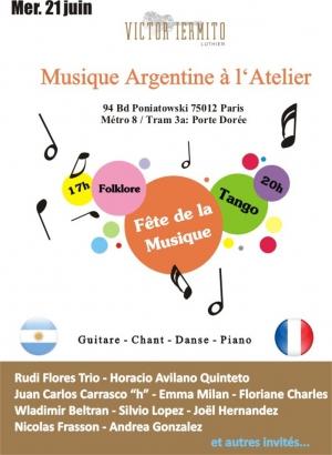 Tango et folklore argenitn f te de la musique 2017 l 39 atelier bastille galerie collection le - Fete de la musique 2017 date ...