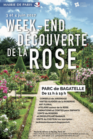 Week-end de la rose au parc de Bagatelle