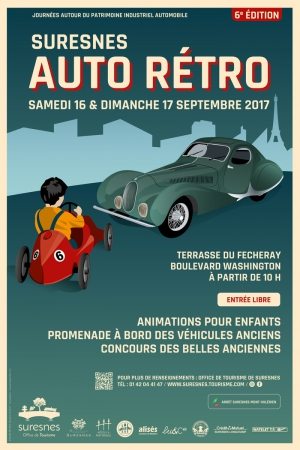 rassemblement de voitures anciennes - journées du patrimoine 2017