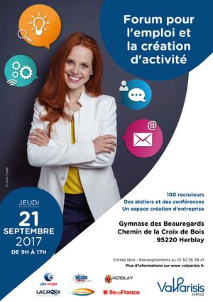 Forum pour l emploi et la cr ation d activit organis par for Salon paris pour l emploi 2017