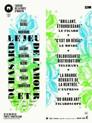 Le jeu de l 39 amour et du hasard th tre de la porte saint martin paris 75010 sortir paris - Theatre de la porte saint martin plan ...