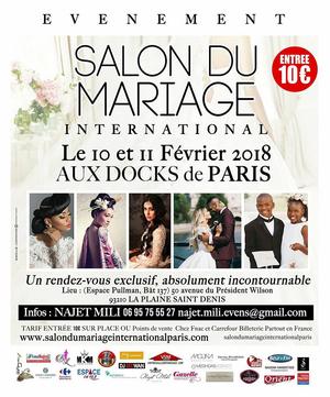 Salon du mariage international paris docks de paris for Salon du ce paris