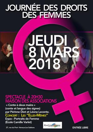 Génial Affiche Pour La Journée De La Femme journée des droits des femmes - maison des associations, veneux-les