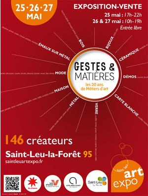 Gestes matieres les 30 ans de m tiers d 39 art centre for Piscine saint leu la foret