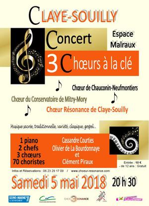 b88307df782 Concert « 3 chœurs a la clé » - Espace André Malraux