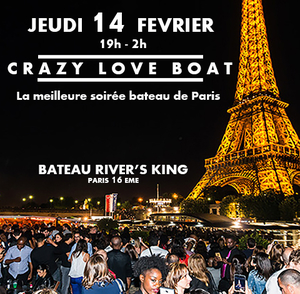 CRAZY LOVE BOAT (CROISIERE, OPEN BAR, BUFFET, 2 AMBIANCES, TOUR EIFFEL, TERRASSE, MOJITOS)