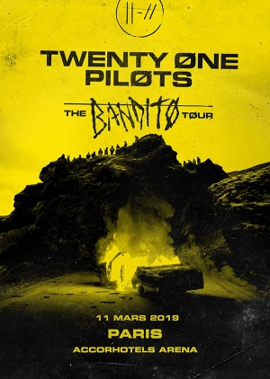 f544b1bfd96 TWENTY ONE PILOTS - THE BANDITO TOUR · TWENTY ONE PILOTS - THE BANDITO  TOUR. DATE   Lundi 11 mars 2019