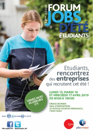 Forum jobs d'été étudiants 2019