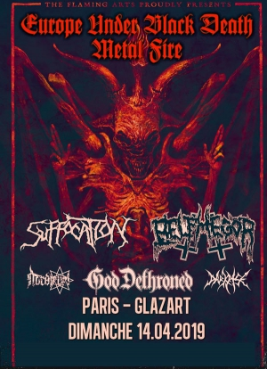 SUFFOCATION & BELPHEGOR - GOD DETHRONED, NORDJEVEL & DARKRISE