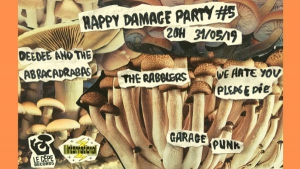 Happy Damage Party #5 : WHYPD/The Rabblers/DD & The Abracadas