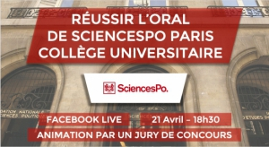 Facebook live PGE-PGO : Réussir son oral de Sciences Po Paris