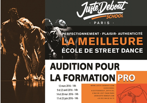 AUDITIONS FORMATION PROFESSIONNELLE | JUSTE DEBOUT SCHOOL