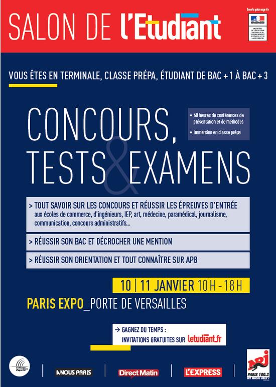 Salon des concours tests et examens parc des - Salon des expositions porte de versailles ...