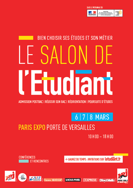 Salon de l 39 etudiant de paris parc des expositions de la for Porte de champerret salon de l etudiant