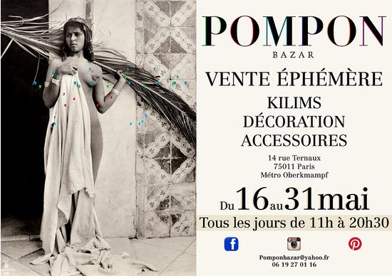 Kilims d coration accessoires vente ephemere pompon for Vente decoration