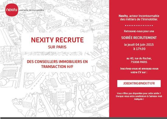 Soir e de recrutement nexity salon de recrutement paris - Salon emploi paris 2015 ...