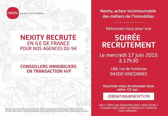 Soir e de recrutement nexity salon de recrutement - Salon de the vincennes ...