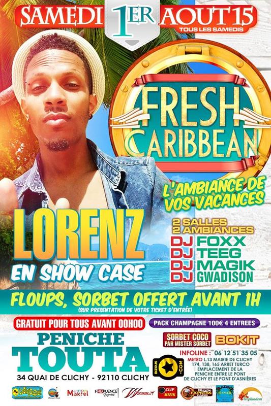 Invit lorenz fresh caribbean l 39 ambiance des - Entree gratuite salon agriculture 2015 ...
