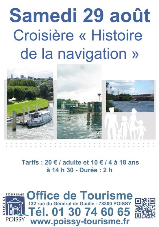 Croisi re fluviale histoire de la navigation croisi re sur la seine poissy 78300 sortir - Office de tourisme poissy ...