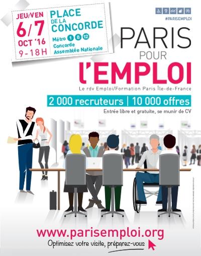Imprimer paris pour l 39 emploi place de la concorde for Salon pour l emploi