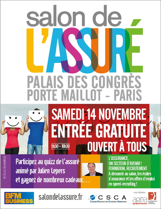Salon de l 39 assur 2015 palais des congr s paris 75017 for Porte ouverte salon de l etudiant