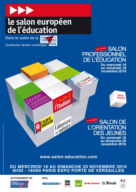 Salon de l 39 education 2017 parc des expositions de la for Salon a porte de versaille