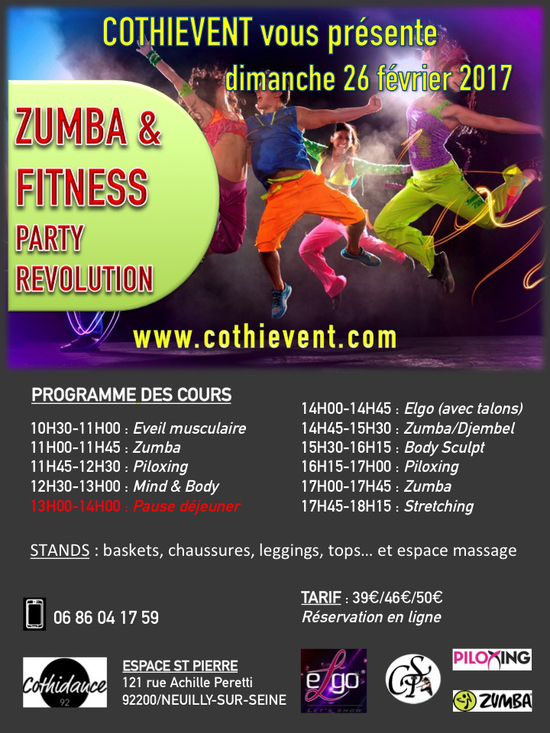 zumba fitness party revolution espace st pierre 121. Black Bedroom Furniture Sets. Home Design Ideas