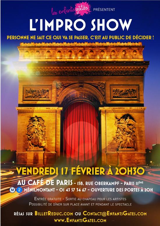 Cafe Theatre One Man Show Paris