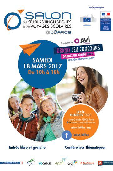 Salon des s jours linguistiques et des voyages scolaires for Salon etudiant 2017 paris