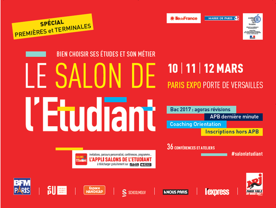 Salon de l 39 etudiant de paris parc des expositions de la for Salon de paris 2017