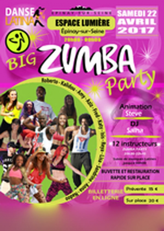 big zumba party 4 eme edition espace lumi re pinay sur seine 93800 sortir paris le. Black Bedroom Furniture Sets. Home Design Ideas