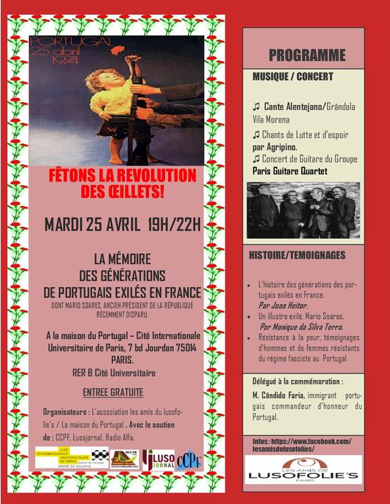 Fetons la revolution des oeillets la maison du portugal maison du portugal andr de - Cultiver des champignons de paris a la maison ...