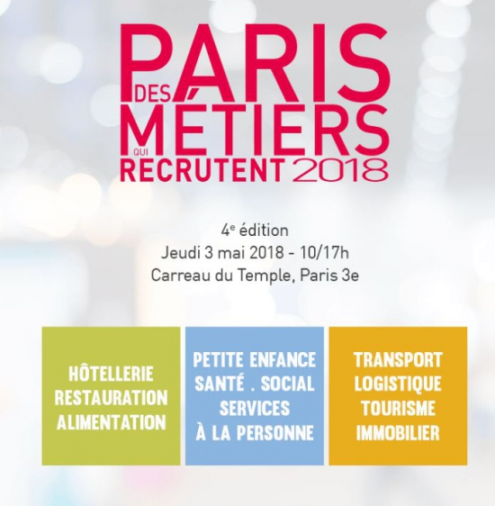 Flyer paris des m tiers qui recrutent carreau du for Salon recrutement 2017