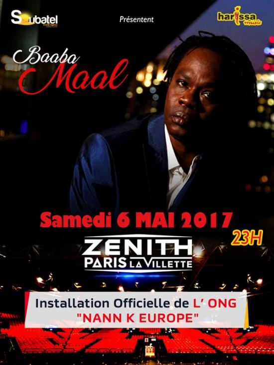 Imprimer Baaba Maal Nann K Europe Z 233 Nith Paris Samedi 6 Mai 2017 Sortir 224 Paris Le
