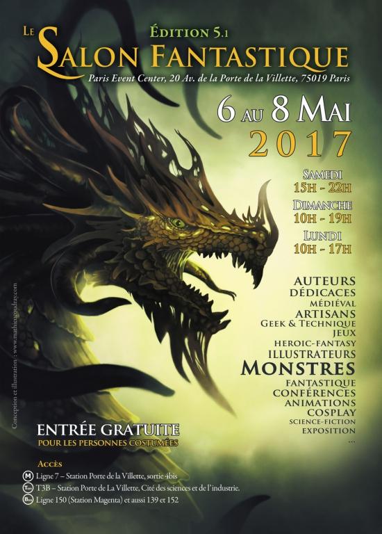 Salon fantastique 2017 paris event center paris 75019 for Salon etudiant 2017 paris