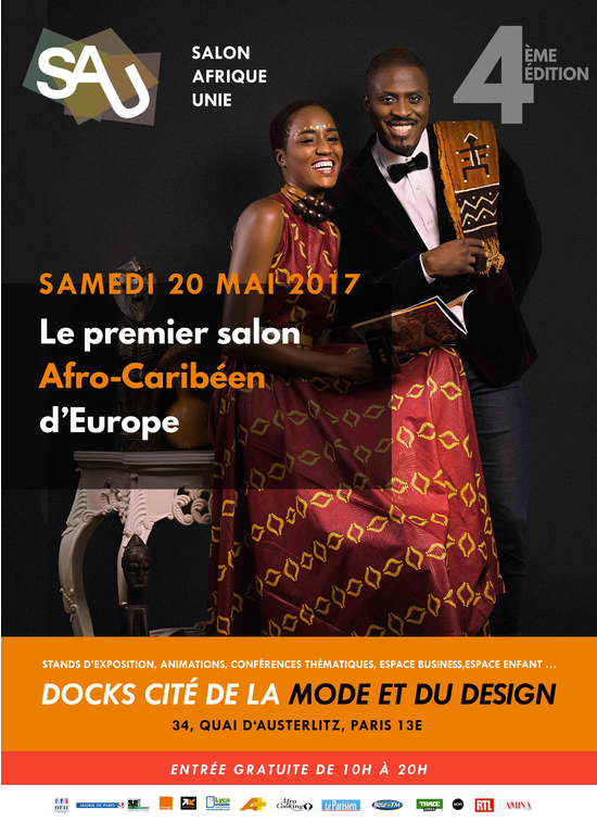 Le salon afrique unie 4 docks cit de la mode et du for Salon de la mode paris 2017