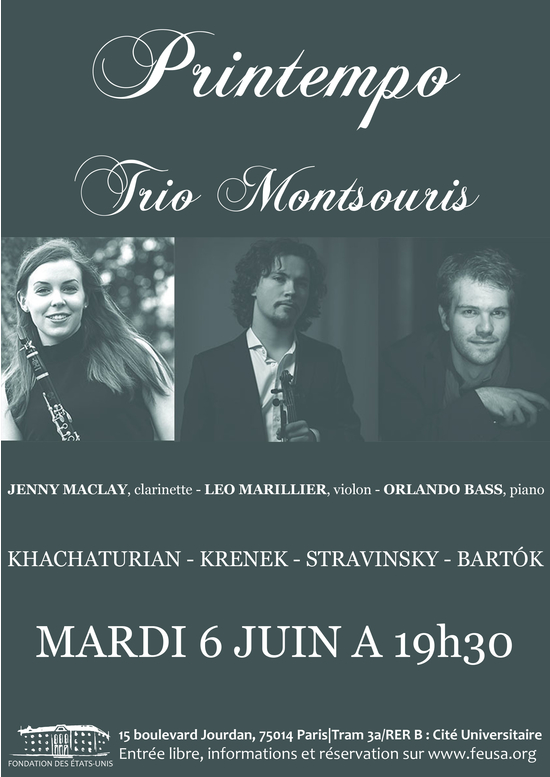 Imprimer concert printempo trio montsouris for 108 boulevard jourdan paris