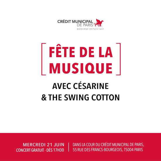 F te de la musique retour l 39 re du swing cr dit municipal de paris paris 75004 - Fete de la musique 2017 date ...